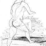 Vrouw met houtstapel